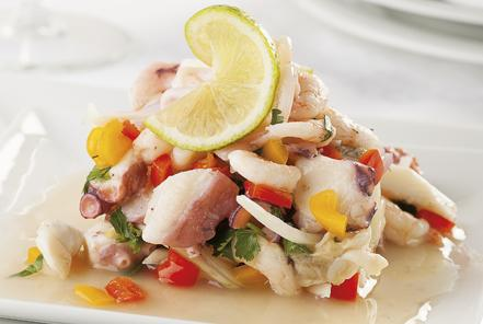 Coconut and Lavender Rock Shrimp Ceviche